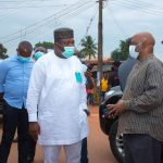 Photos: Ugwuanyi visits scene of IPOB's clash with security agencies
