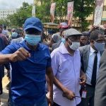 pictures: Lagos Gov, Sanwo-Olu, Commissioners join #EndSARS protest