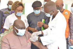 COVID-19: Abia Gov, Ikpeazu receives AstraZeneca Vaccine